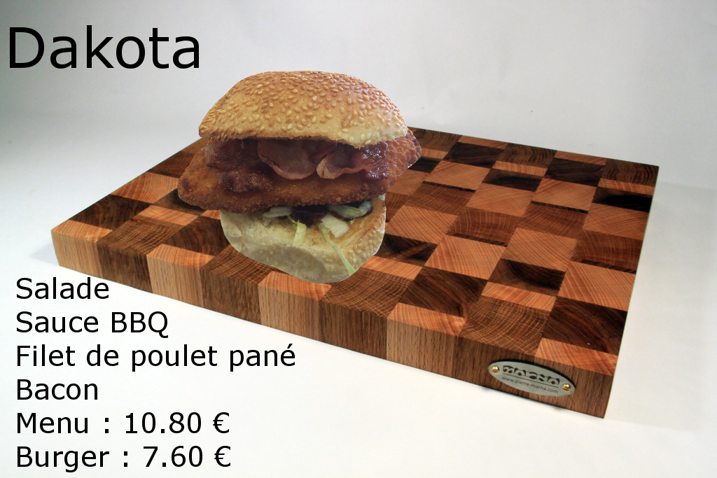 Dakota poulet burger